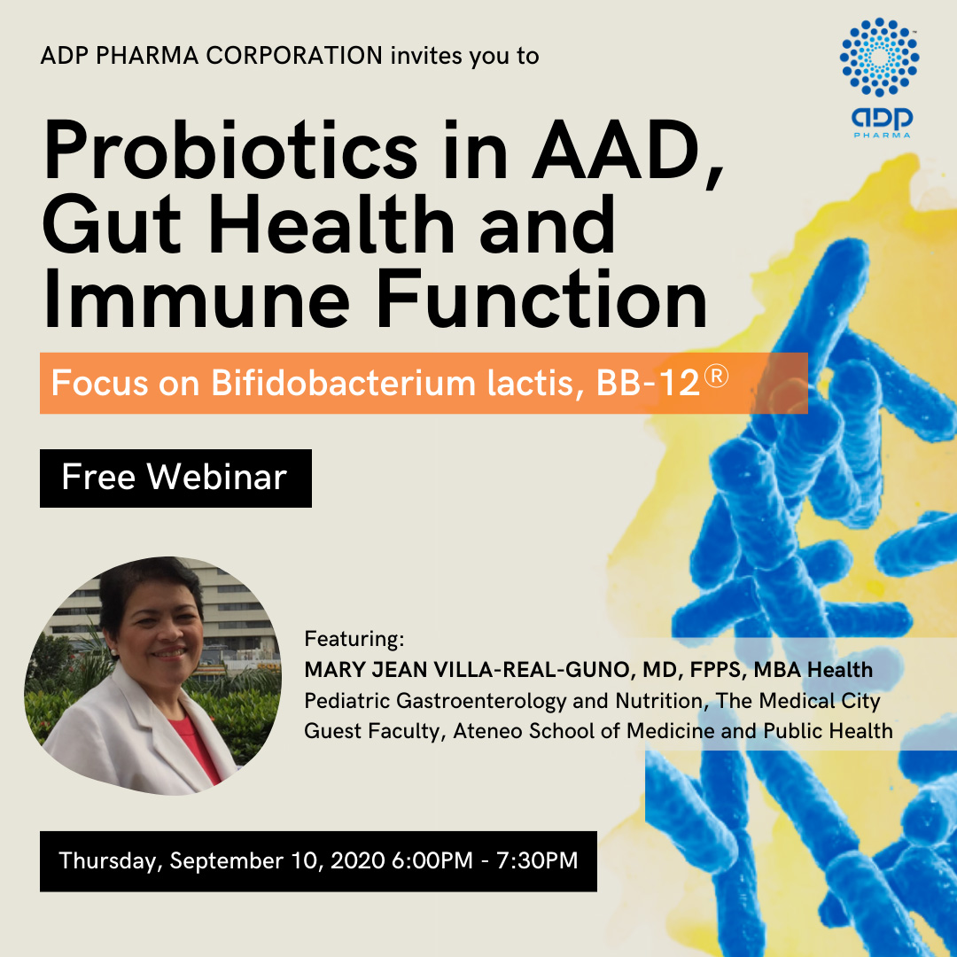 "ADP Pharma will host a webinar titled: ""Probiotic in ADD, Gut Health and Immune Function"""