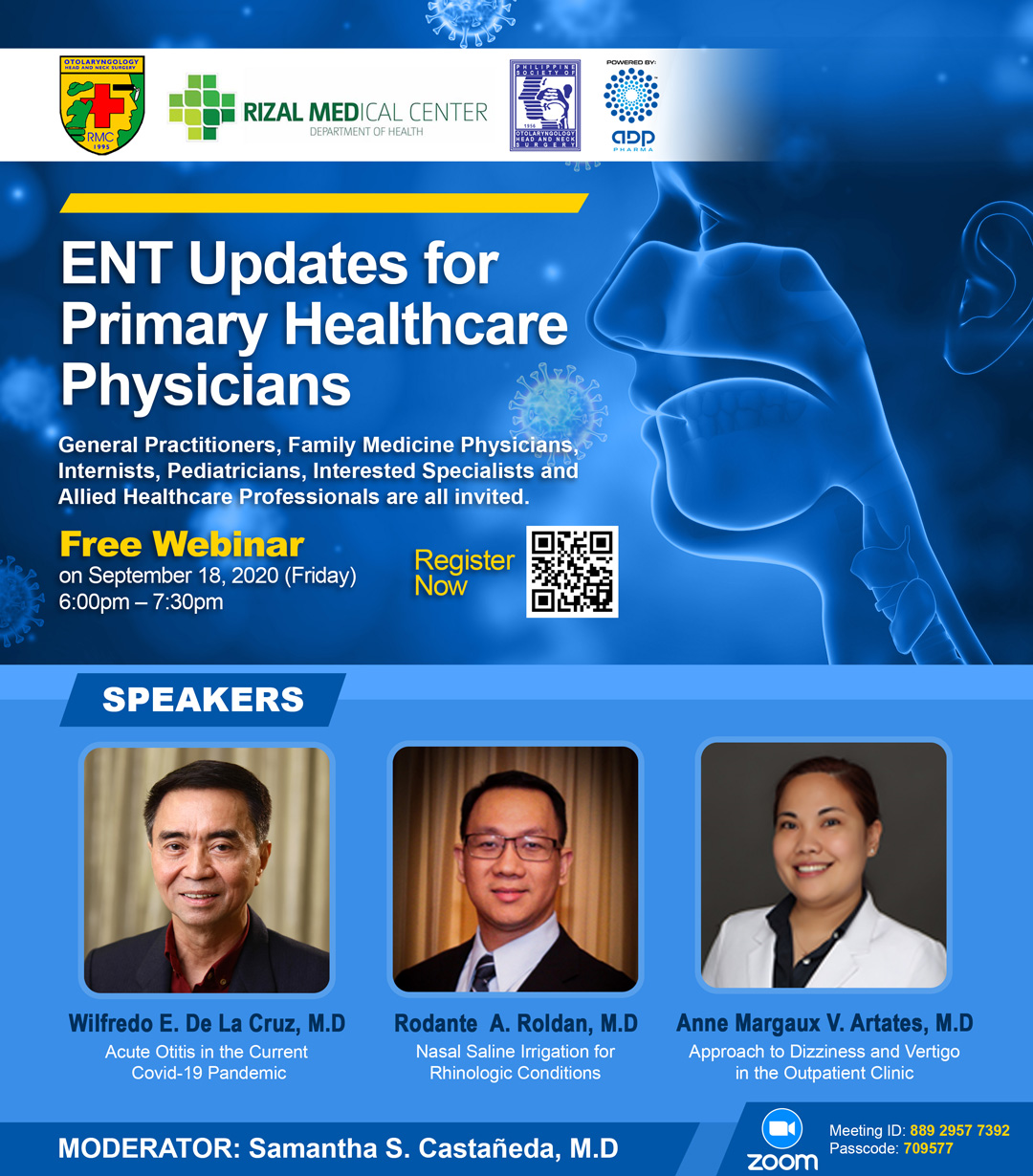 "ADP Pharma invites you on a webinar titled ""ENT Updates for Primary Health Care Physicians"""